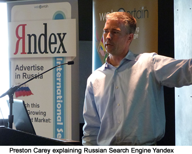 Preston Carey Speaking on Russian Search Engine Yandex