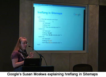 Susan Moskwa Speaking on Google's Hreflang Tag